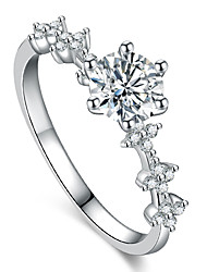 cheap -moissan diamond ring simulation diamond ring four-leaf clover ring female six-claw jewelry