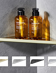 cheap -Bath Triangle Corner Shelf Thick 304 Stainless Steel Bathroom Rack Brushed
