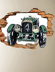 cheap -3D Broken Wall Construction Truck Can Remove Stickers On The Background Decoration Of Home Corridor