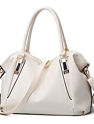 cheap -Women's Bags PU Leather Satchel Top Handle Bag Zipper Fashion Shopping Office & Career Handbags Wine White Black Royal Blue