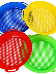 cheap -Sand Sieves for Sand Toys (Red Blue Yellow Green) Complete Gift Set Bundle-4Pack (8.75 x 9.75 Inch)