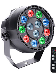 cheap -12LEDs RGBW DMX 512 Sound Activated Master-Slave 8 Channel Stage Light with 1 Remote Controller for Disco Party Club KTV Wedding