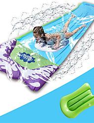 cheap -Triple Lane Slip, Splash and Slide for Backyards| Water Slide, Sliding Racing Lanes & Sprinklers | Durable Quality PVC Construction (Boogie Board Not Included)