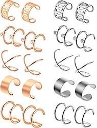 cheap -simple titanium earrings steel men's and women's non-pierced ear bone clip fake men's earrings