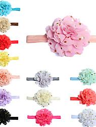 cheap -amazon europe and america bronzing chiffon flower hair band children's hair band wholesale hair band hair band