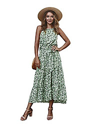 cheap -enafad sundress for women casual summer dress halter midi spaghetti strap polka dot dress high low ruffle hem cami dress