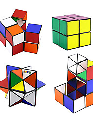 cheap -4Pcs Magic Cube Infinity Bundle Transforming Cubes Transforming Geometric Puzzle Toys for Kids and Adults