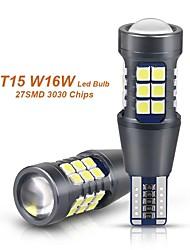 cheap -2PCS Signal Lamp W16W LED T15 921 912 Bulb Super Bright 3030 27SMD T15 Led Canbus Auto Backup Reserve Lights Tail Lamp 12V