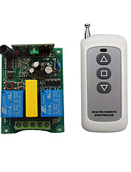 cheap -AC220V 2CH RF wireless remote control switch / Motor up stop down /3 button remote /433mhz