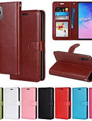 cheap -Phone Case For Apple Full Body Case iPhone 12 iPhone 11 iPhone 12 Pro Max iPhone 11 Pro iPhone 11 Pro Max iPhone 12 Pro iphone 7/8 iphone X / XS Wallet Card Holder Shockproof Solid Colored PU Leather
