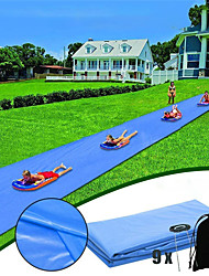 cheap -Lawn Water Slides Large Double Water Slide Splash Sprint Inflatable Water Slides Breakthrough Blast Water Slide Garden Racing Water Slide Water Slide 26.4ft Children Water Slide Garden Racing