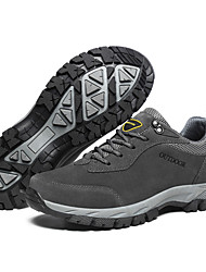 cheap -Men's Hiking Shoes Anti-Slip Lightweight Breathable Sweat wicking Low-Top Hiking Travel Walking Autumn / Fall Spring Summer Dark Grey Army Green Brown
