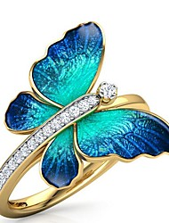 cheap -Band Ring Mixed Color Gold Rhinestone Alloy Butterfly Cute 1pc 6 7 8 9 / Women's