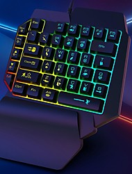 cheap -k15 keyboard glowing characters strong resilience rgb one handed mechanical gaming keyboard for computer