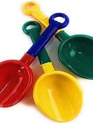 cheap -10.5 Inch Kids Multi-Color Sand Scoop Plastic Shovels for Sand and Beach (Red/Blue, Yellow/Green, Green/Yellow) Complete Gift Set Bundle - 3 Pack