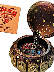 cheap -Music Box 1 pcs Gift Music & Light Vintage Resin For Kid's Adults' Boys and Girls