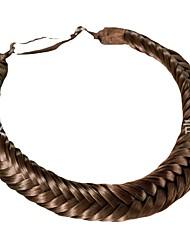 cheap -braided two strand braid fashion wig fresh retro braid two strand wig braid hair band hair band four strand discrimination
