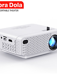 cheap -TORA DOLA MINI Projector for Home Theater Portable Video Projector Support Full HD 1080P Cinema Android 7.0 WIFI D3