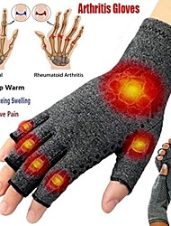 cheap -Indoor Men's And Women's Sports Fingerless Health Care Nursing Half-Finger Non-Slip Glue Dispensing Rehabilitation Training Pressure Gloves
