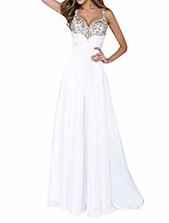 cheap -Women's A Line Dress Maxi long Dress White Sleeveless Pattern All Seasons Casual 2021 S M L XL XXL