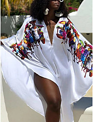 cheap -2021 summer amazon africa europe and america cross-border face digital printing white dress loose sexy long dress