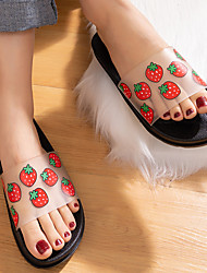 cheap -Summer New Product Fruit Slippers 2020 Creative Home Sandals And Slippers For Internal And External Wear Home Women's Shoes Wholesale Transparent Matte