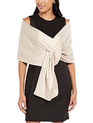cheap -Sleeveless Elegant Satin Wedding Party Women's Wrap With Solid