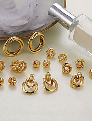 cheap -multi-style earrings love fashion gold-plated alloy shell acrylic earrings