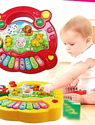 cheap -Farm Animal Sound Kids Piano Music Toy Musical Animals Sounding Keyboard Piano Baby Playing Type Musical Instruments