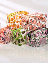 cheap -Transparent Waterproof Cosmetic Bag Female Portable Ins Wind Cartoon Large-Capacity Girl Pencil Case Storage Bag Toilet Bag