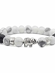cheap -muyasea elephant gifts for women and girls bracelet 8mm lava rock bead and natural semi-precious stone stress relief yoga bracelet