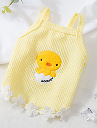 cheap -Dog Cat T-shirts Vest Lace Cartoon Basic Adorable Cute Casual / Daily Dog Clothes Puppy Clothes Dog Outfits Breathable Purple Yellow Orange Costume for Girl and Boy Dog Polyester S M L XL 2XL