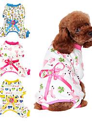 cheap -Dog Cat Jumpsuit Puppy Clothes Dog clothes Princess Giraffe Animal Princess Cat Cartoon Cute Casual / Daily Dog Clothes Puppy Clothes Dog Outfits Warm Yellow Blue Pink Costume for Girl and Boy Dog