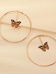 cheap -Women's Drop Earrings Earrings Dangle Earrings Circle Fashion Sweet Earrings Jewelry Yellow For Party Evening Gift Prom Date Birthday 1 Pair