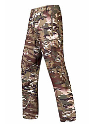 cheap -Men's Softshell Pants Tactical Pants Thermal Warm Waterproof Windproof Multi-Pockets Autumn / Fall Winter Spring Camo / Camouflage Fleece Softshell Bottoms for Skiing Camping / Hiking Hunting Jungle