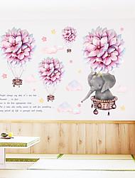 cheap -Romantic Ball Cartoon Small Elephant Cloud Hot Air Balloon Bedroom Porch Wall Beautification Decorative Wall Sticker
