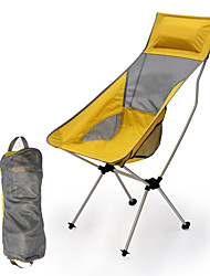 cheap -Camping Chair High Back with Headrest Portable Ultra Light (UL) Foldable Comfortable Aluminum Alloy Mesh Oxford for 1 person Camping / Hiking Fishing Beach Traveling Autumn / Fall Summer Yellow Red