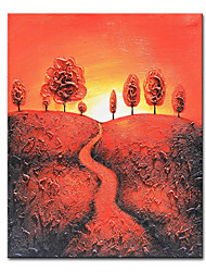 cheap -Mintura Large Size Hand Painted Abstract Landscaoe Oil Painting on Canvas Modern Art Wall Pictures For Home Decoration (Rolled Canvas without Frame)