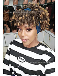 cheap -cross-border wigs headscarf wigs with bangs bangs african ladies small curly hair wigs headgear manufacturers in stock
