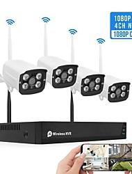 cheap -4CH Video SystemTuya Smart Life Surveillance Camera NVR Kit 1080P Wireless WIFI CCTV System Camera Security System Waterproof