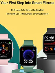 cheap -P6 Smartwatch for Apple/ Android Phones,  Sports Tracker Support Heart Rate / Blood Pressure Measure