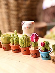 cheap -Mini Cactus Decoration Resin Modern Waterproof Home Decoration Gift 7 Pieces