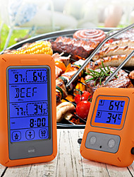 cheap -Food Thermometer Wireless Touch Screen Double Fork Probe Detection Food Thermometer for BBQ Cooking Kitchen Tool Supplies
