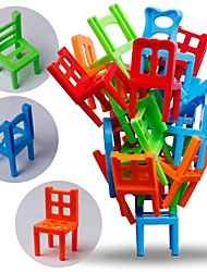 cheap -Mini Chair Balance Blocks Toy Plastic Assembly Blocks Stacking Chairs Kids Educational Family Game Balancing Training Toy
