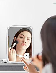 cheap -New Makeup Mirror Female Desktop LED With Light Portable Folding Bracket Fill Light Mirror Dormitory Desktop