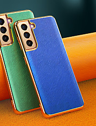 cheap -Phone Case For Samsung Galaxy Back Cover S21 Shockproof Dustproof Solid Colored TPU
