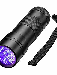 cheap -Black Light Flashlights / Torch Waterproof LED 5mm Lamp 12 Emitters 1 Mode Waterproof Ultraviolet Light Detector Camping / Hiking / Caving Everyday Use Hunting Black / Aluminum Alloy