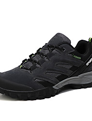 cheap -Men's Hiking Shoes Sneakers Wearable Breathable Comfortable Hiking Outdoor Exercise Running Leatherette Spring, Fall, Winter, Summer Dark Grey Khaki Black Dark Blue / Round Toe