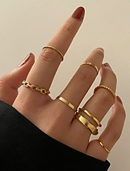 cheap -Women's Ring Set Retro Stylish Simple European Earrings Jewelry Gold For Party Evening Street Prom Festival