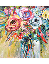 cheap -Oil Painting Hand Painted Abstract Flowers Paintings On The Wall Art  for Home Decoration Rolled Canvas No Frame Unstretched